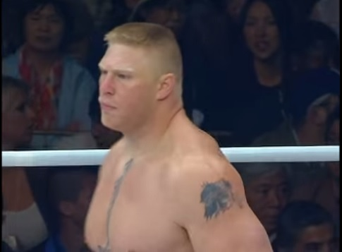 Do baú: relembre a montada de Brock Lesnar em sua estreia no MMA, no K-1 Dynamite!