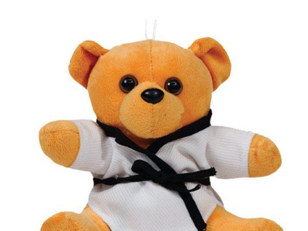 O treino solitário do pequeno atleta de Jiu-Jitsu e seu urso de pelúcia