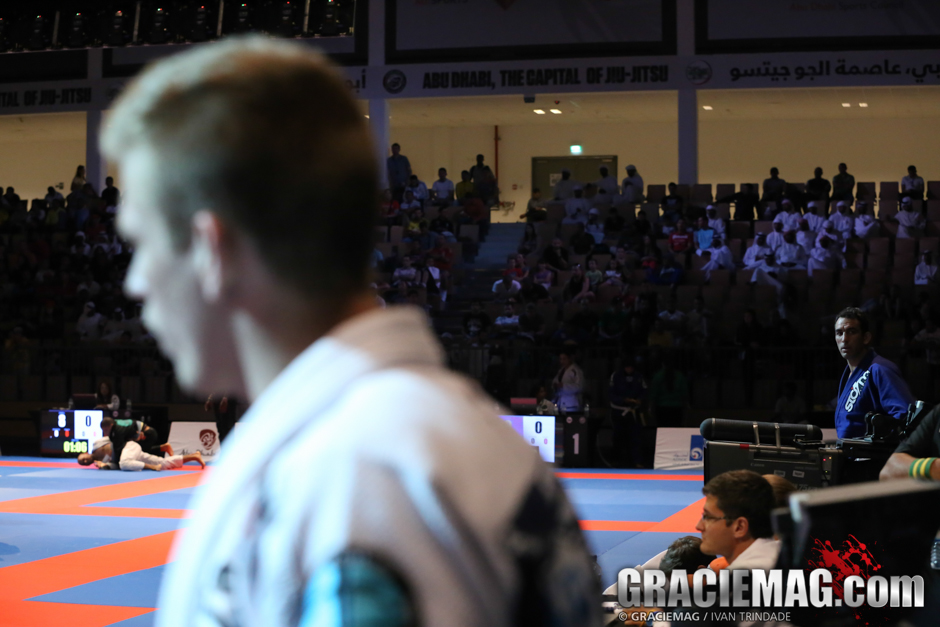 Photographer Ivan Trindade was fortunate enough to catch Braulio Estima's glance at Keenan Cornelius just before they clashed at the WPJJC