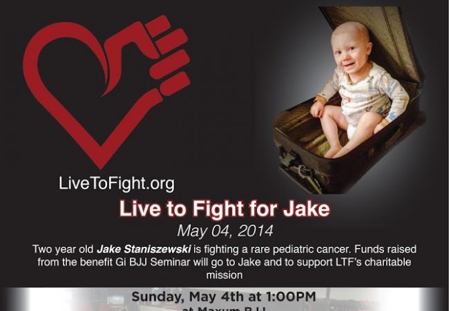 Live to Fight seminar on Long Island May 4 to support BJJ black belt son's cancer battle