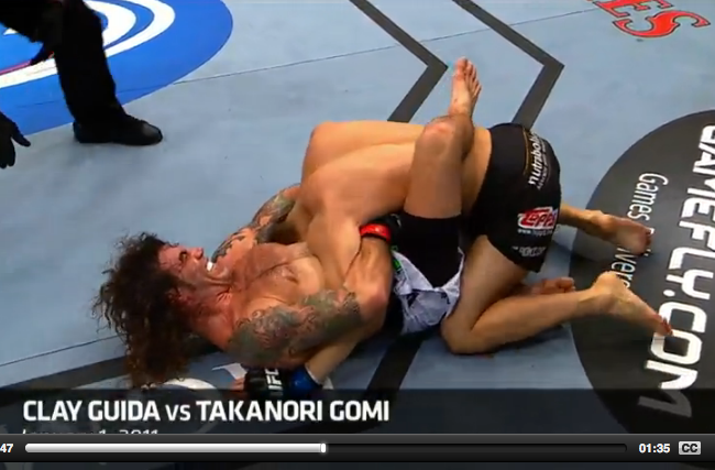 The Jiu-Jitsu that shines in the UFC: Guida's guillotine against Gomi