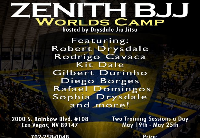 Two-a-days from May 19-25 at the Zenith BJJ Worlds Camp will prepare you for gold