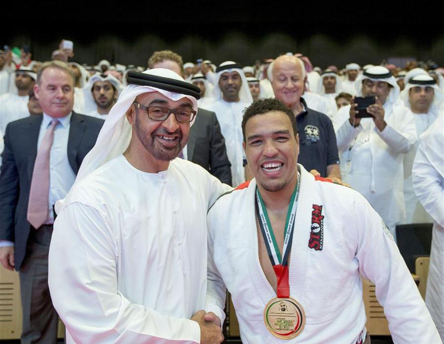 Os lutadores de Jiu-Jitsu são ídolos nacionais em Abu Dhabi, caso do faixa-preta Faisal Al-Kitbe. Foto: Divulgação