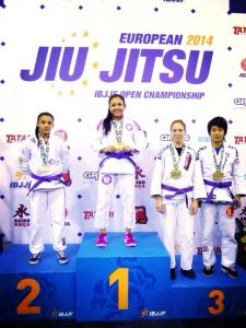 Danielle wins the 2014 European Jiu-Jitsu Championship to start the year off right. Photo: Personal archive