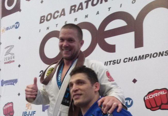 Michael Sergi receives black belt from Marcio 'Pe de Pano' after gold in Boca Raton
