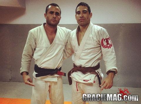 Danny Castillo com treinador Bruno Melo Foto pessoal
