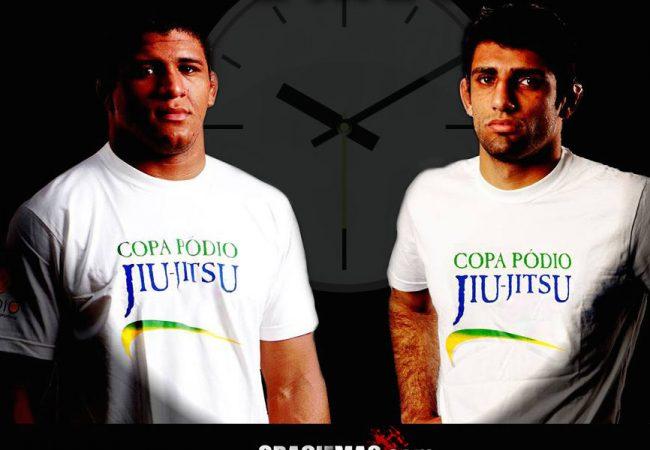 Leandro Lo e Durinho sem tempo, até um finalizar? Sim, na Copa Pódio de Jiu-Jitsu