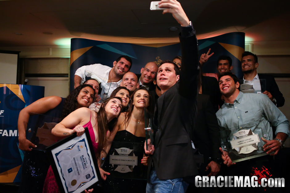 The IBJJF Hall of Fame was the stage for the first ever Jiu-Jitsu world champions selfie