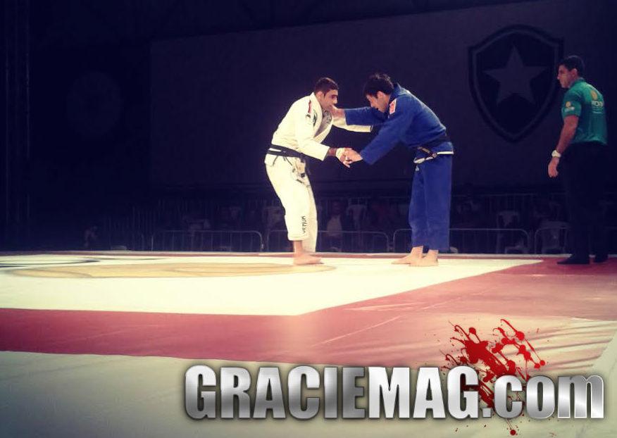 Leandro Lo e Gregor Gracie na fase de grupos da Copa Podio Foto GRACIEMAG