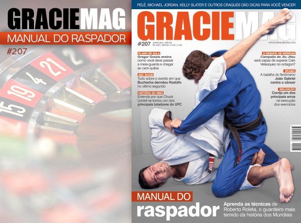 Roberto Roleta na capa de GRACIEMAG 207
