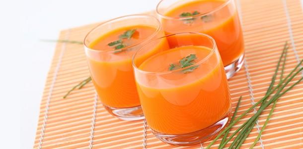 Suco de cenoura faz parte do cardápio da Dieta Gracie. Foto: Divulgação