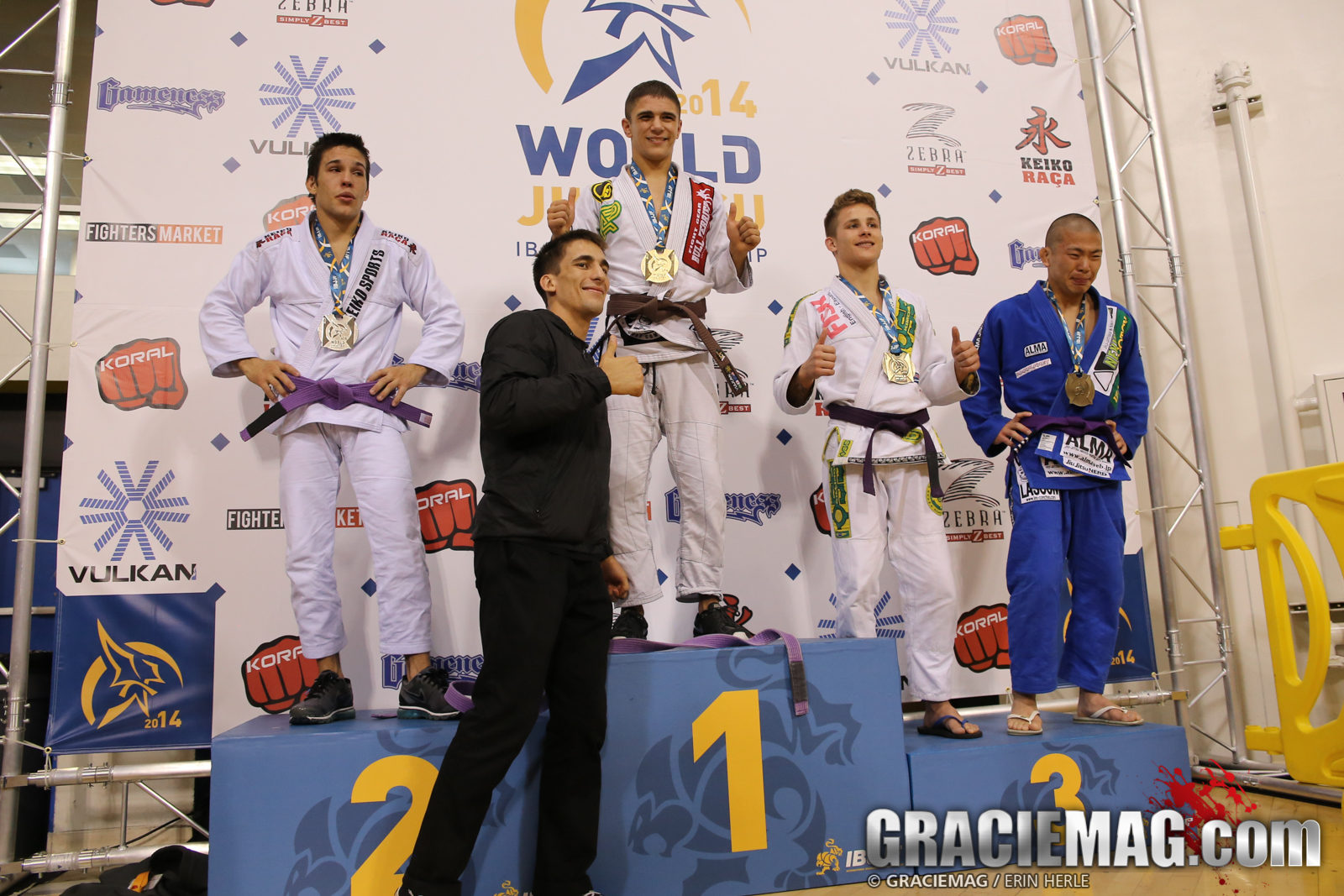 Seeing promotions on the podium at the Worlds is a common sight. Photo: Erin Herle