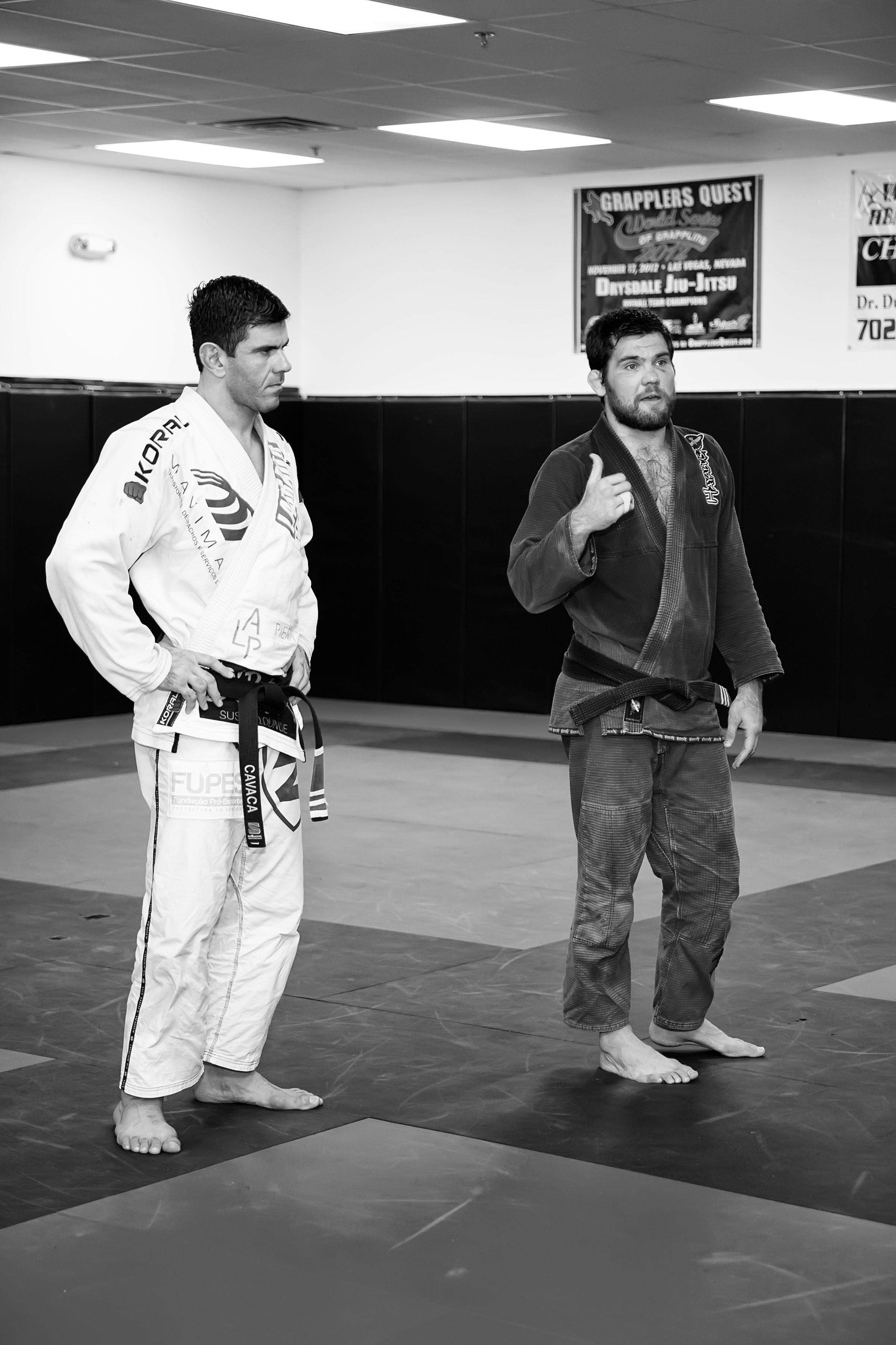 Rodrigo Cavaca e Robert Drysdale durante o treino. Foto: JF Roberts