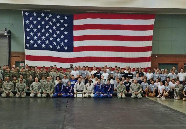 GB Black Belt, Lucas Rocha teaches self-defense to 150 US Army soldiers in CA