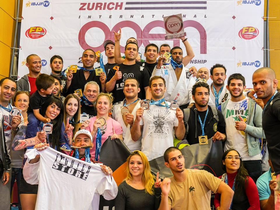 Icon JJ Team celebrating at the podium in Zurich