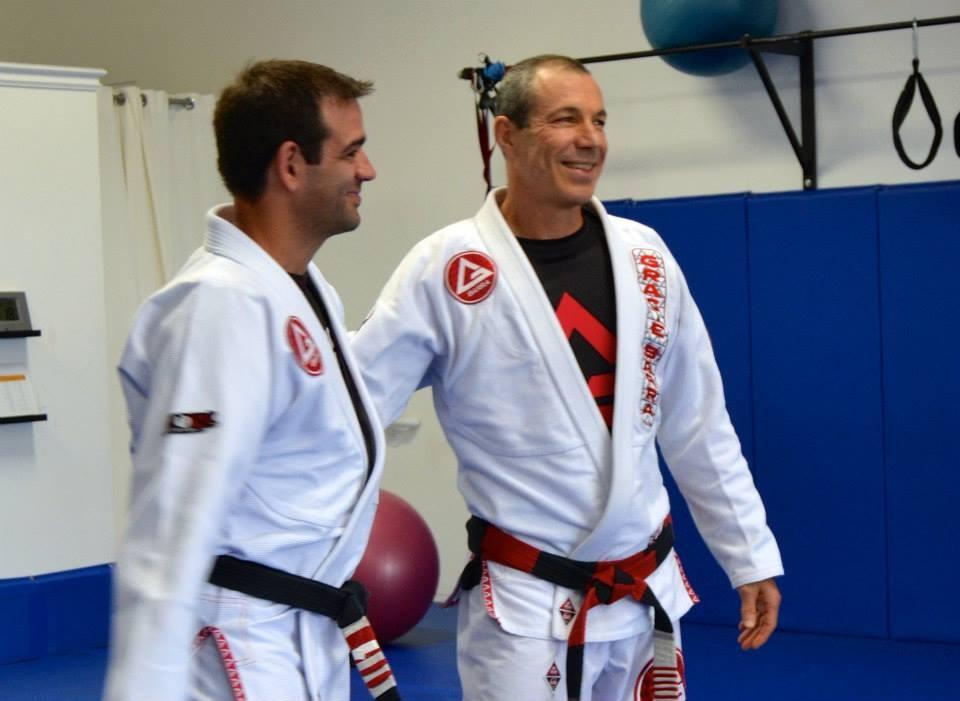 Rodrigo Clark with Master Carlos Gracie Jr
