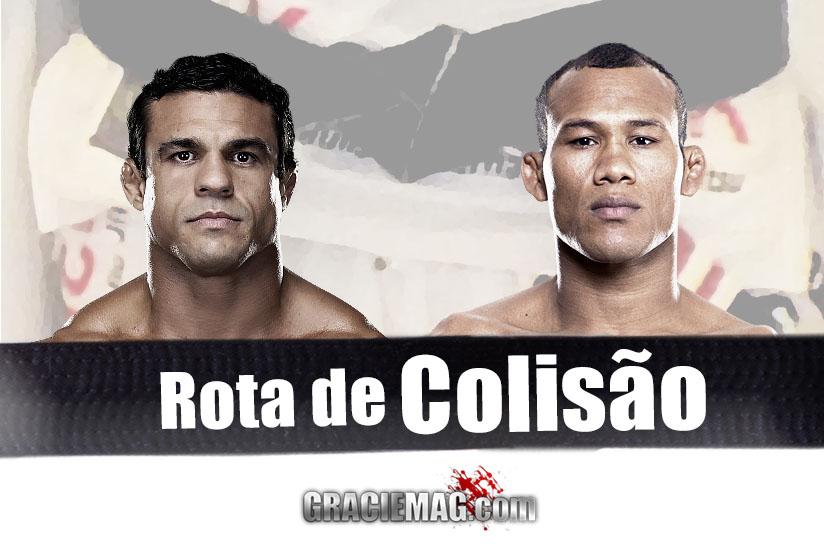 Ronaldo Jacaré x Vitor Belfort em um duelo de faixas-pretas no UFC. Será? (Montagem em fotos do UFC)