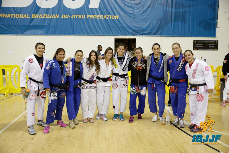 Some of the black belt ladies at the 2014 Worlds. Photo: Lance Emery/IBJJF