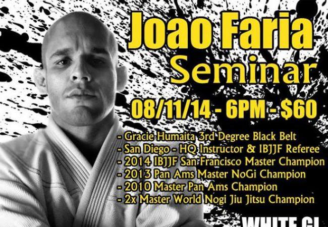 Professor Joao Faria of GMA Gracie Del Mar seminar in Jackson, MO on August 11