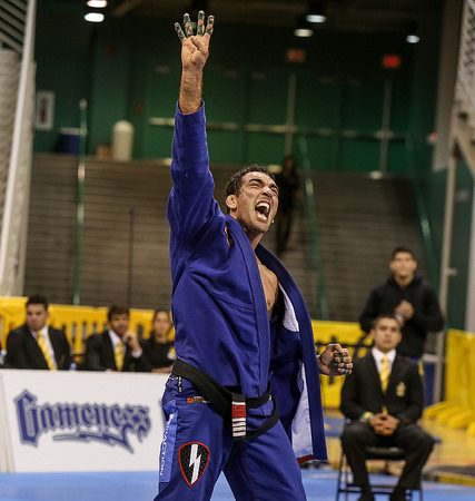 Braulio Estima Celebrates at the Worlds. Photo: Erin Herle | GRACIEMAG