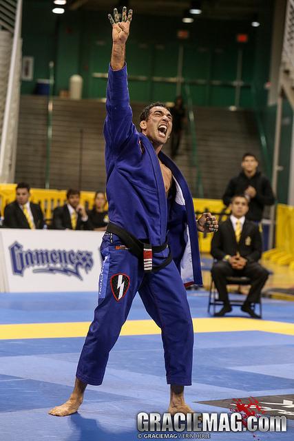 Braulio Estima Celebrates at the Worlds. Photo: Erin Herle | GRACIEMAG
