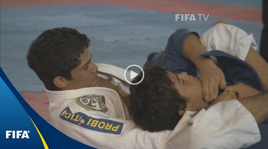 A jovem promessa manauara Lukas Matheus em ação no vídeo da FIFA. Foto: Reprodução