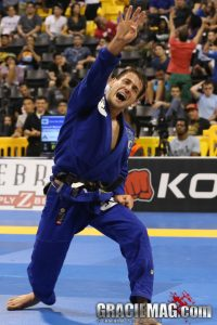 Rafa after winning his fourth black belt world title. Photo: Ivan Trindade