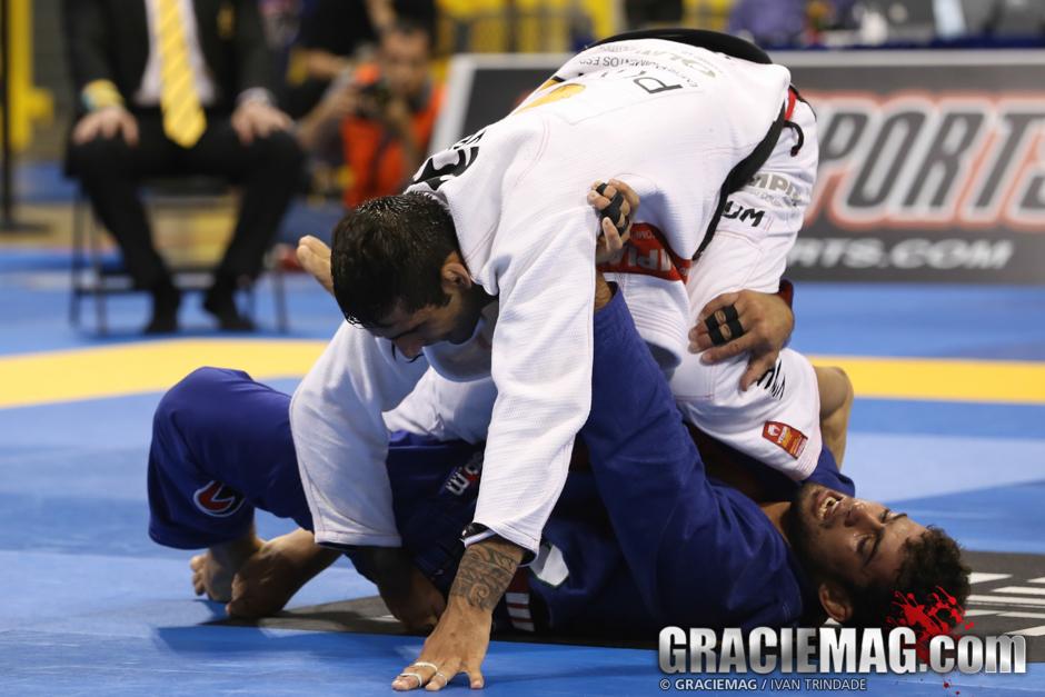 Leandro Lo em ação no Mundial de Jiu-Jitsu. Foto: