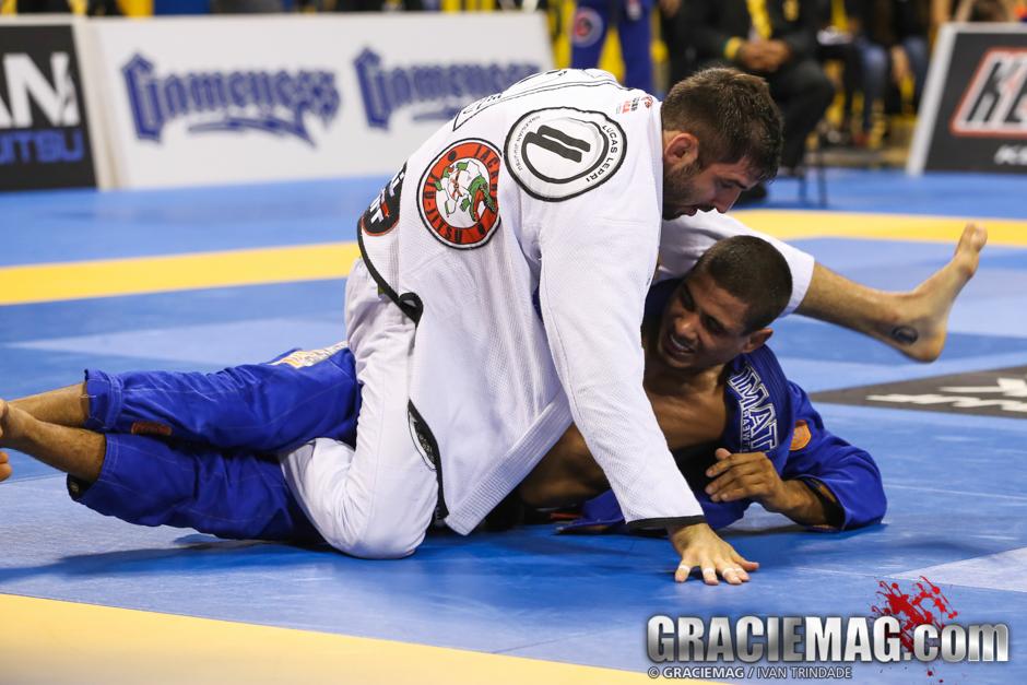 Lucas Lepri contra JT Torres, no Mundial de Jiu-Jitsu. Foto: Ivan Trindade/GRACIEMAG