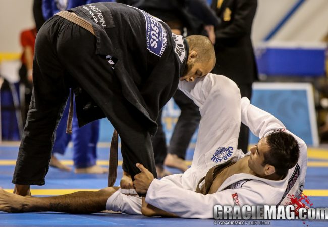 Video: Learn the cartwheel armbar that helped earn the brown belt world title for Marcos Silva