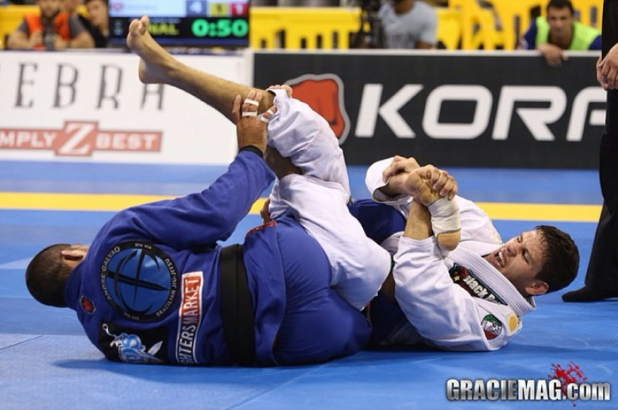 Felipe Preguica attacks Galvao in the Worlds 2014 Photo: GRACIEMAG