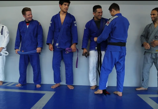 Video: Manny Diaz earns his black belt during Caio Terra's instructional video about belts
