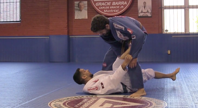 Video: GMA Gracie Barra Montreal student demonstrates tricky spider guard sweep