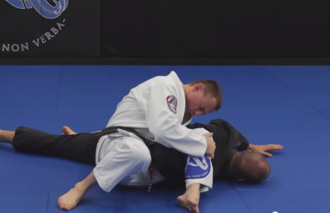 Video: Counter a single leg takedown by jumping for a flying omoplata with Greg Nelson