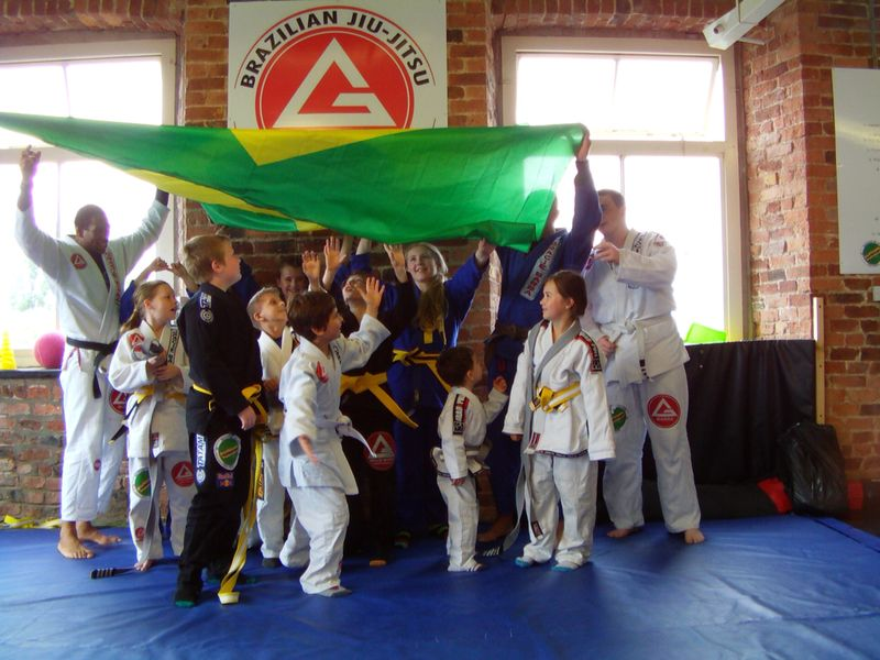 GB Manchester kids celebrates their belt promotions