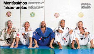 Os faixas-pretas de Jiu-Jitsu e Direito, em reprodução de página da GRACIEMAG #208