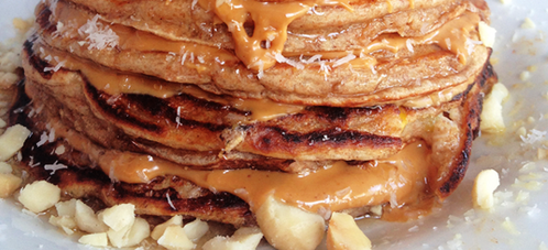 GRACIE DIET: Coconut Peanut Butter Protein Pancakes
