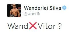 O tweet de Wand pedindo para encarar Belfort no UFC. Foto: Reprodução