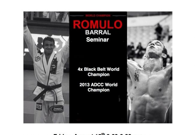 New Jersey: Learn from ADCC and World champion Romulo Barral on Friday, Aug. 15