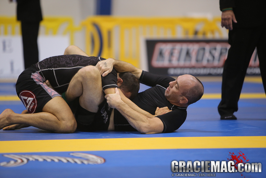 Butterfly guard in use at the 2013 No-Gi World Championship. Photo: Erin Herle