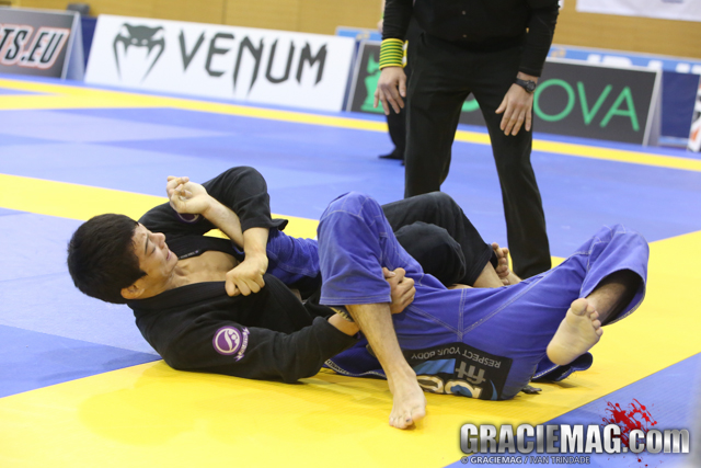 Video: Joao Miyao teaches the Ninja Armlock from Berimbolo