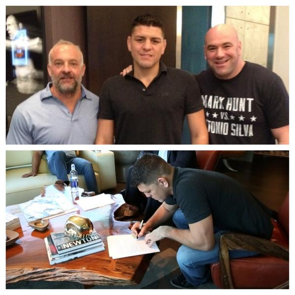 Nick Diaz signing his new UFC contract