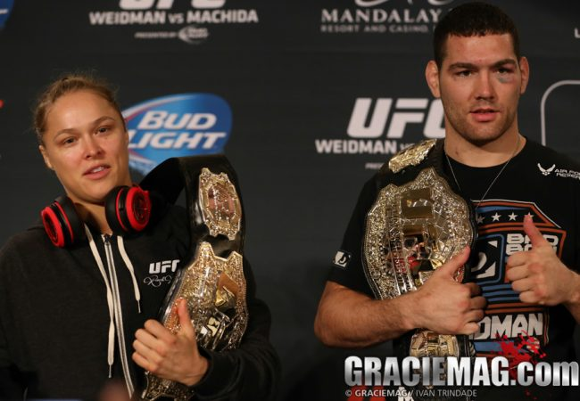 UFC 175: Weidman overcomes Rd 4 scare to keep title against Machida; Rousey annihilates Davis in 16s