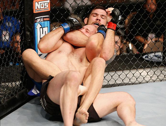 Drysdale gets the rear naked choke. Photo: Josh Hedges Zuffa LLC Zuffa LLC