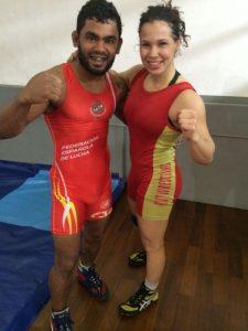 Hugo Wolverine e a namorada, Laís, entram em ação amanhã, no UFC e no Pan de Luta Olímpica. Foto: Divulgação