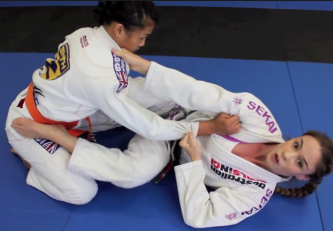 Video: Sophia Drysdale demonstrates a triangle submission from closed guard