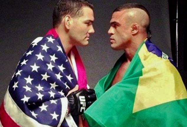 Weidman e Belfort decidem o lugar maior dos médios do UFC em Las Vegas. Foto: Reprodução