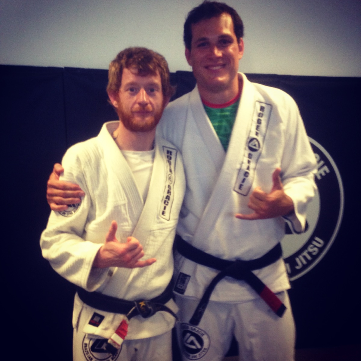 Kev Capel earns first degree from Roger Gracie. Photo: Personal archive