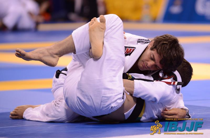 Robson Moura Fighting at the Worlds. Photo: IBJJF