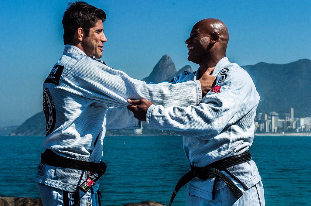 Caio Almeida e Pé Chumbo fazem pegada. Foto: Daniel Amaral